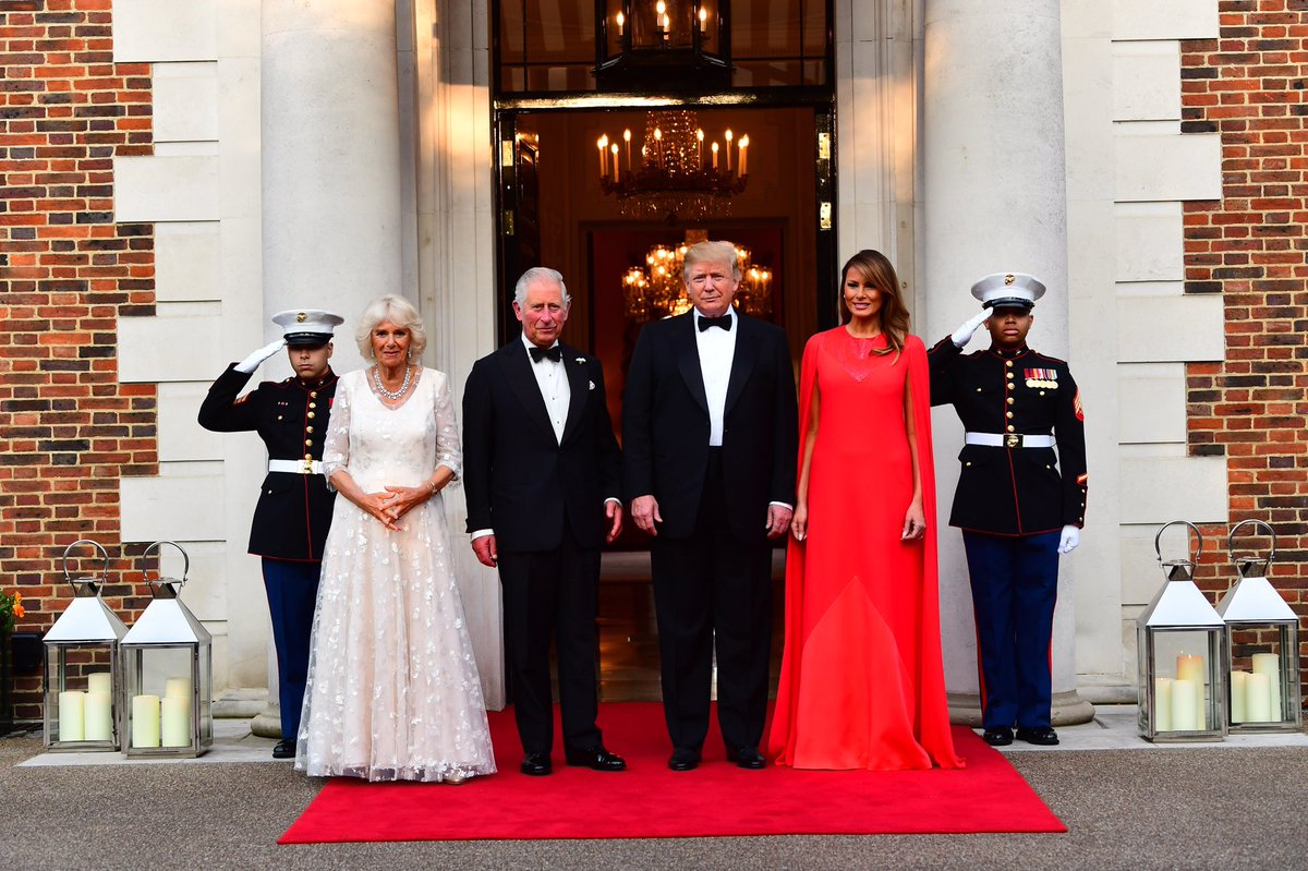 Prince of Wales and President Trump