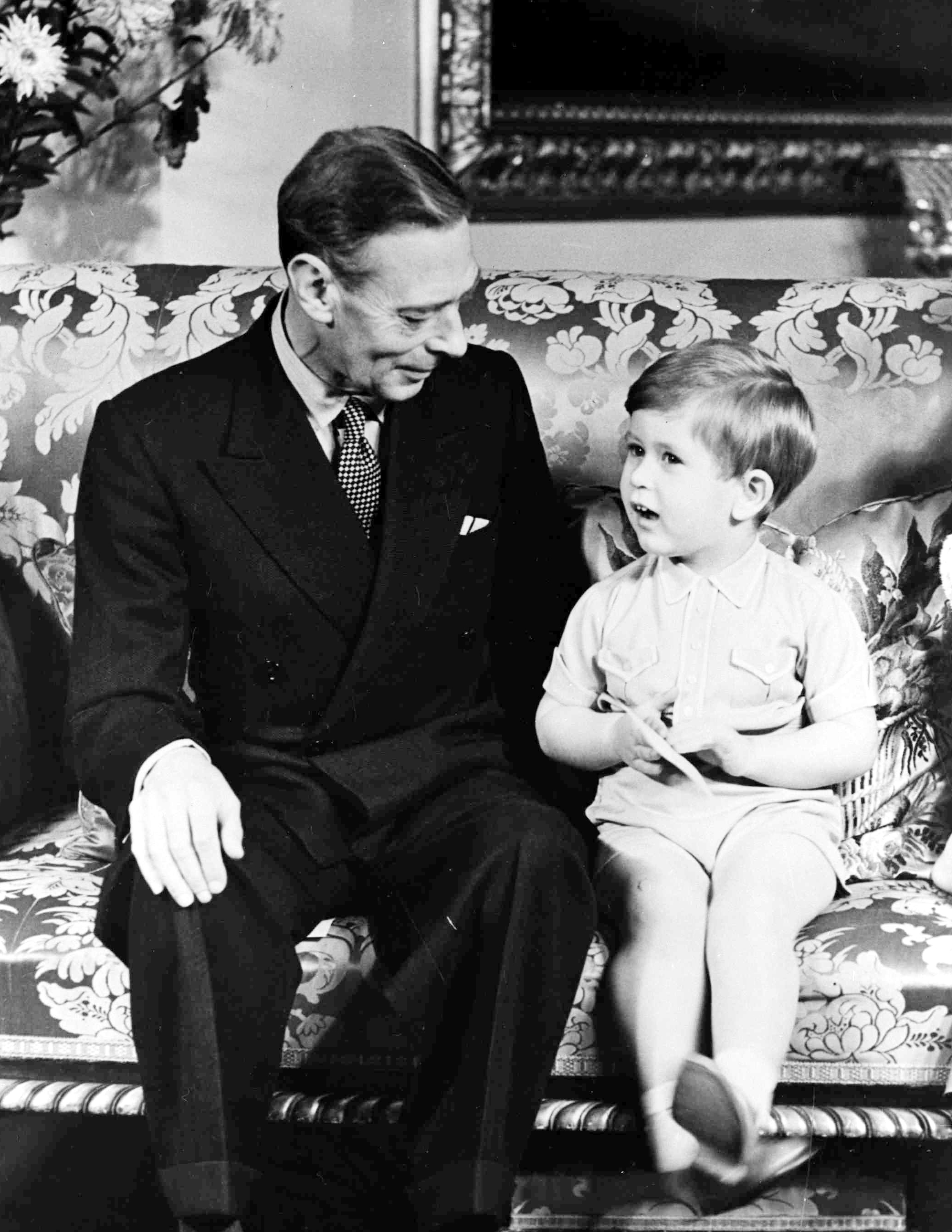 King George VI and his grandson, The Prince of Wales