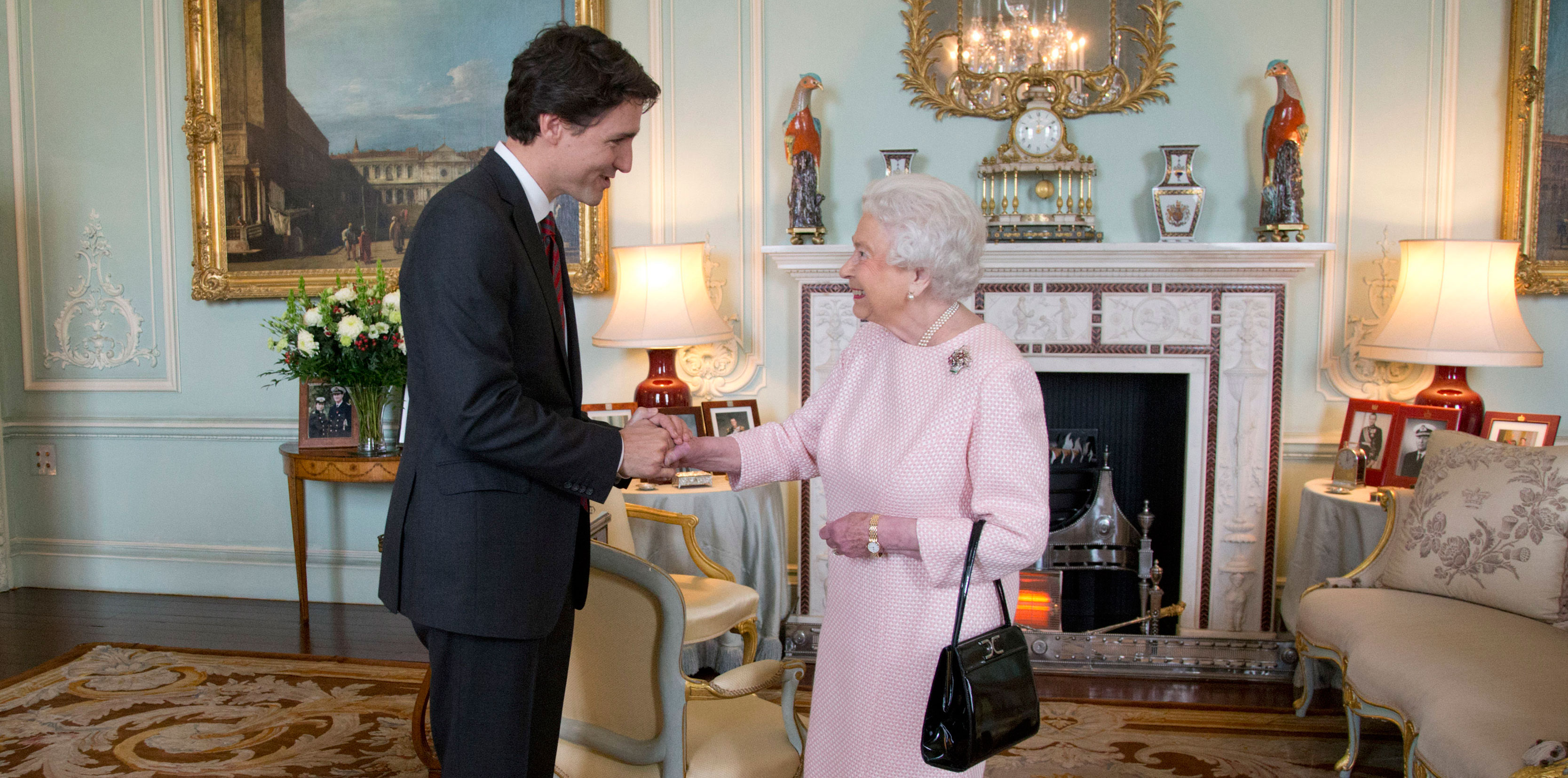 The Queen meets Justin Trudeau at Buckingham Palace