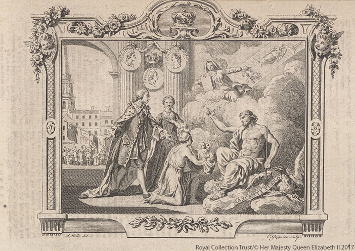 The birth of George, The Prince of Wales (later George IV)