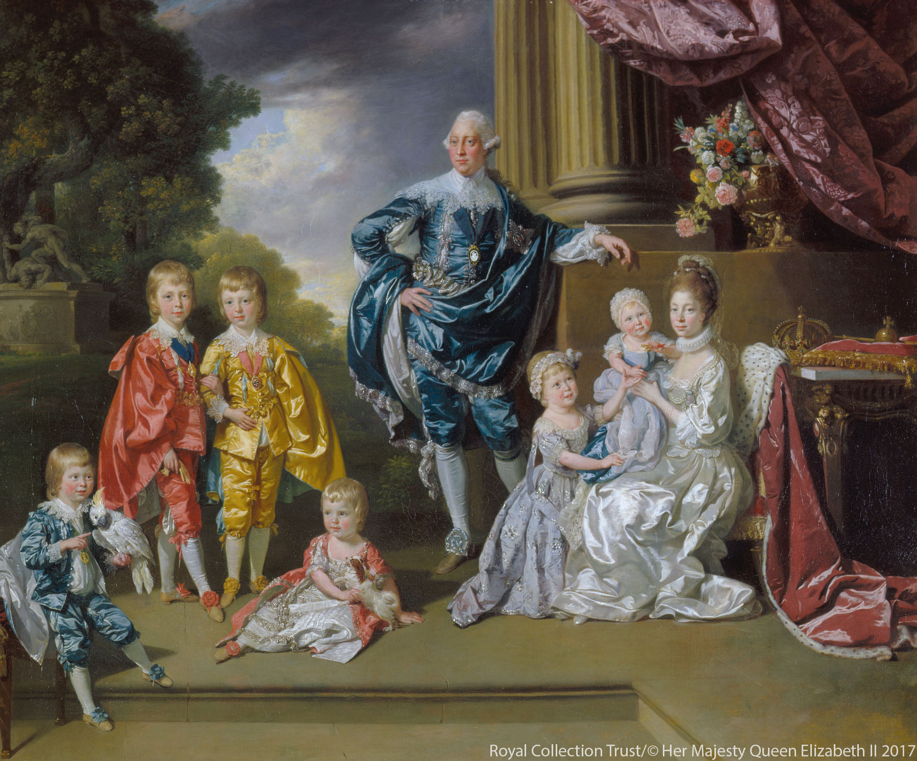 Queen Charlotte with her family