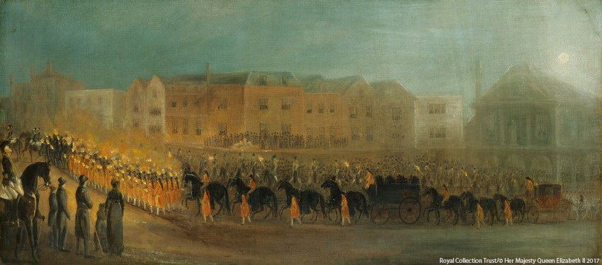 The Funeral Procession of Queen Charlotte