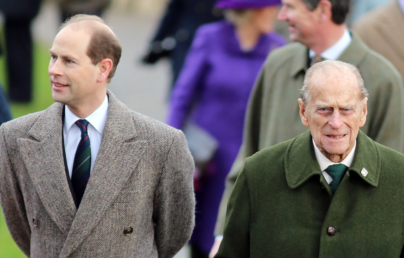 The Earl of Wessex with his father The Duke of Edinburgh