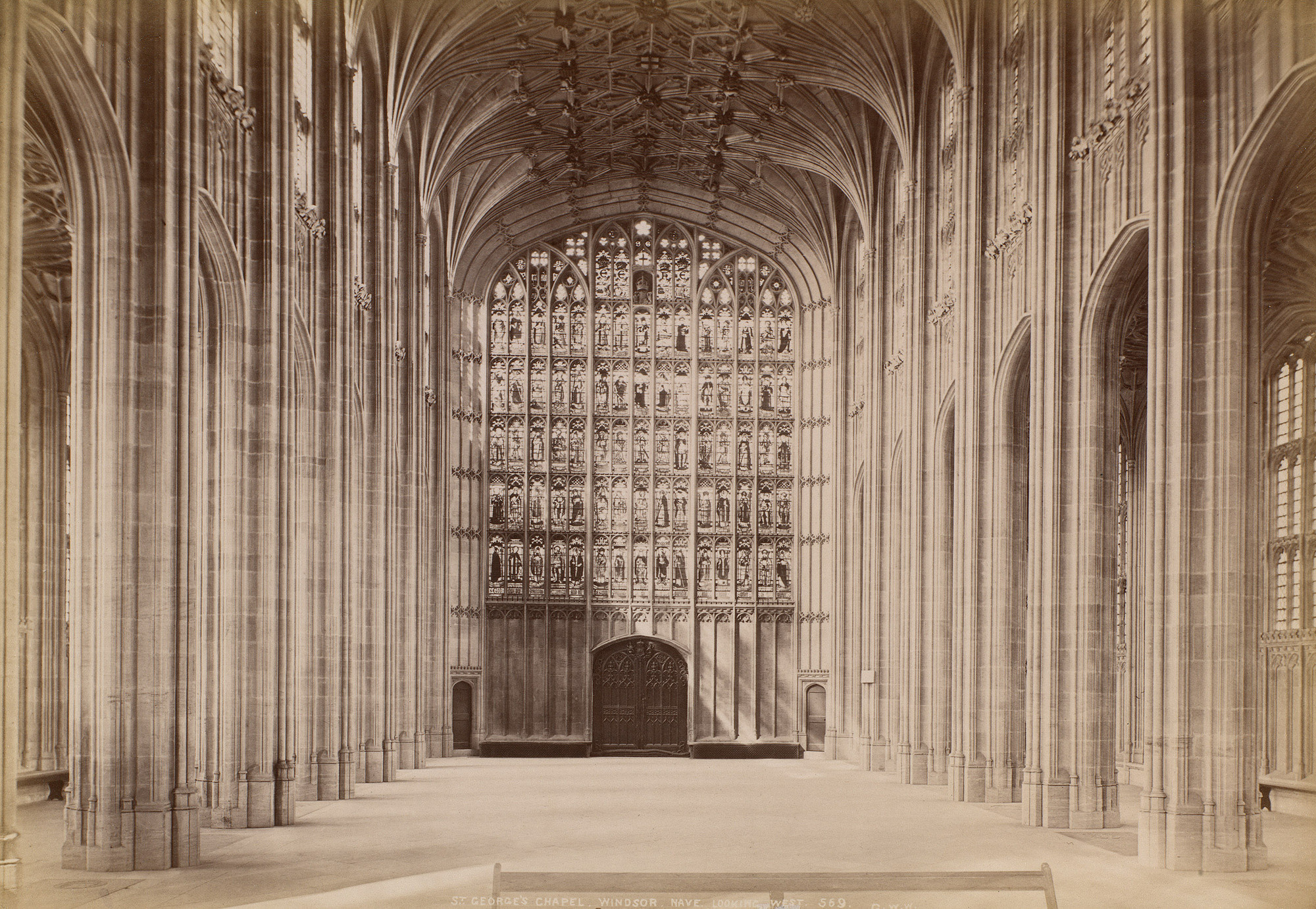 An interior photograph of the chapel, taken in the late 19th century