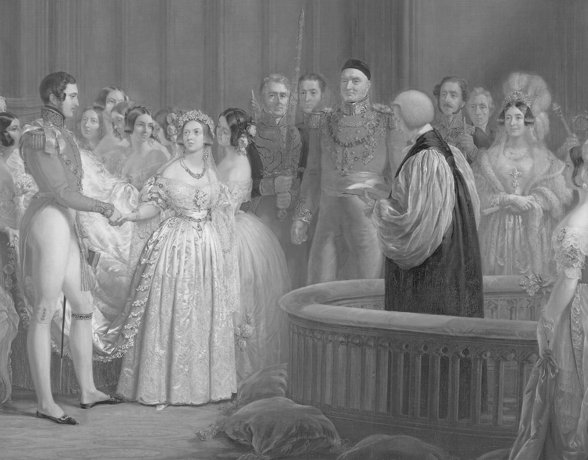 The Marriage of Queen Victoria to Prince Albert in the Chapel Royal