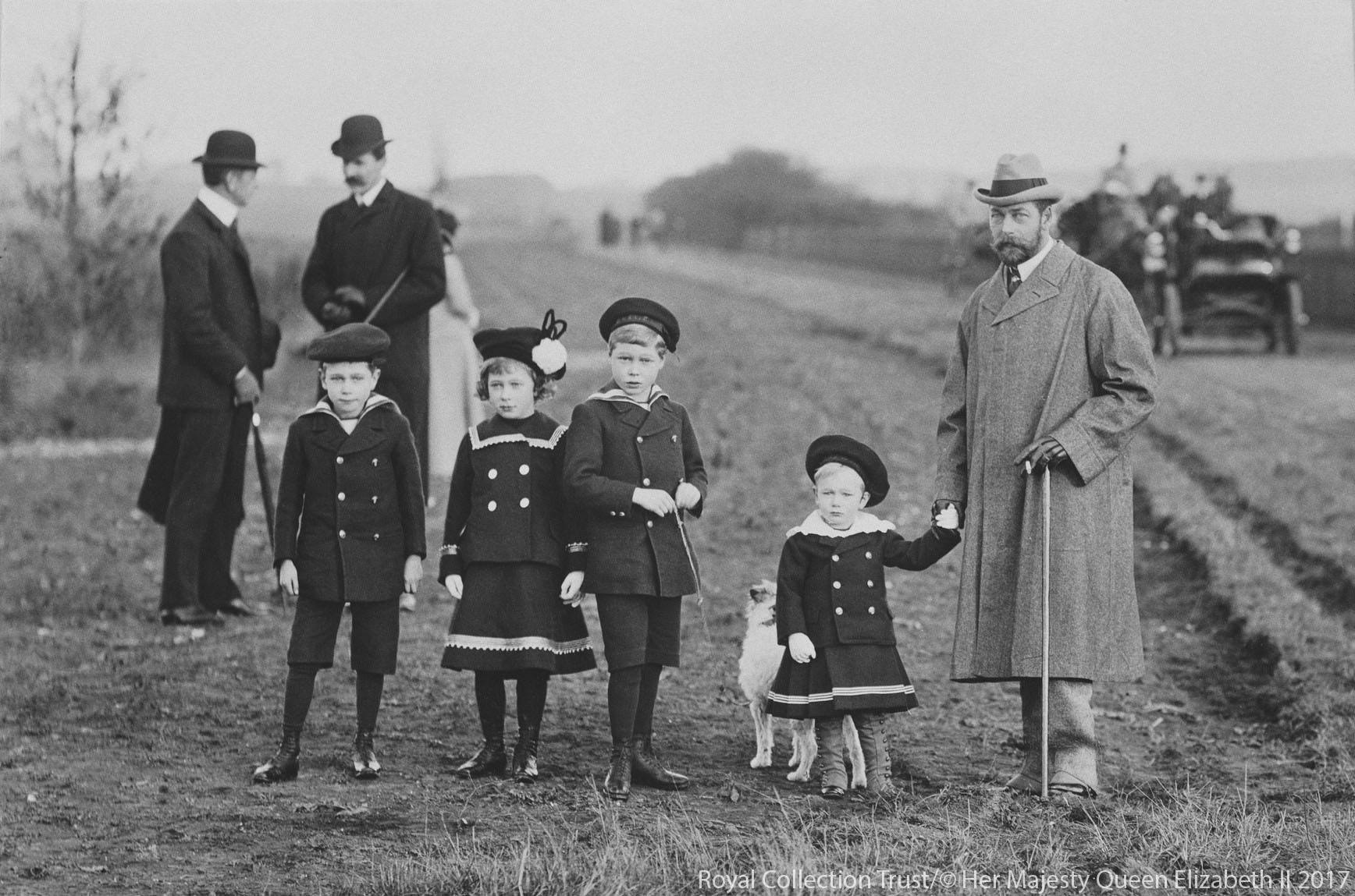 King George V with his family on the Sandringham Estate