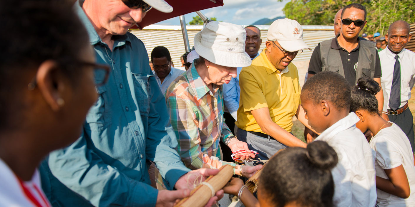 Princess Royal visits a project run by Save the Children in Madagascar