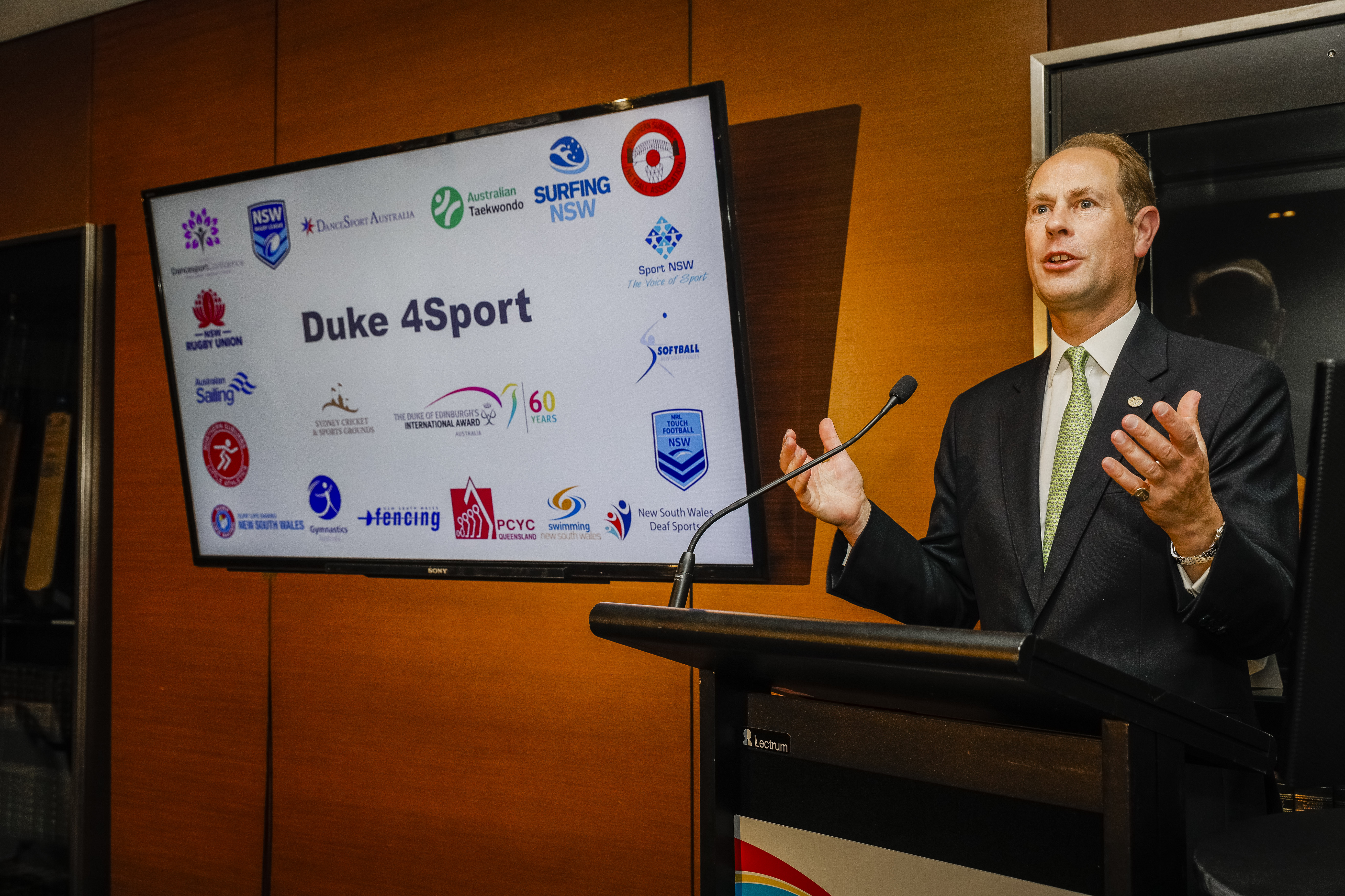 The Earl of Wessex at a Duke 4 Sport event in Sydney, Australia