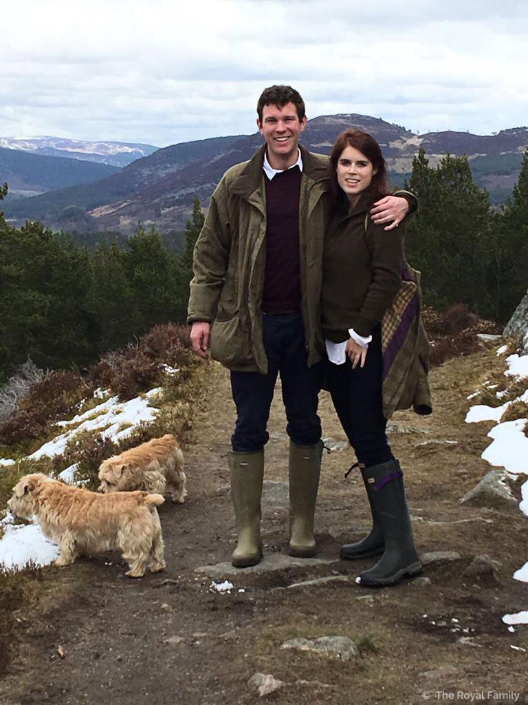 Princess Eugenie and Jack Brooksbank in Scotland