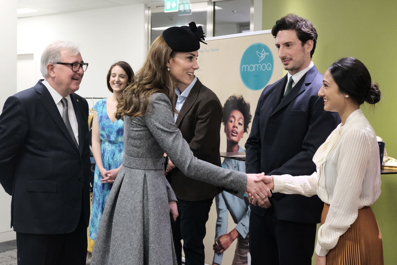 The duchess of Cambridge at KCL
