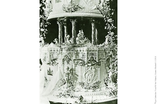 The Duke and Duchess of York's wedding cake in 1923