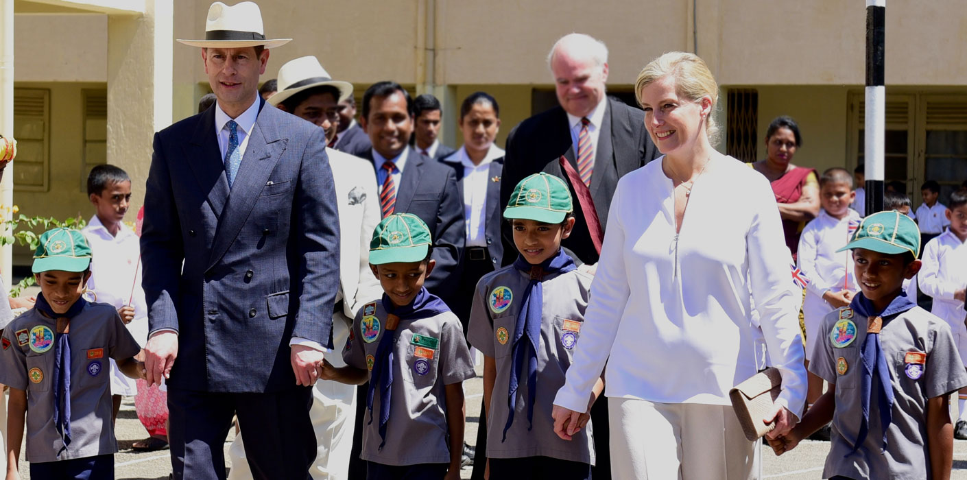 The Earl and Countess of Wessex visit Sri Lanka