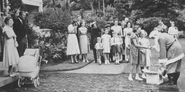 The Queen and Duke of Edinburgh in New Zealand on Christmas Day in 1953