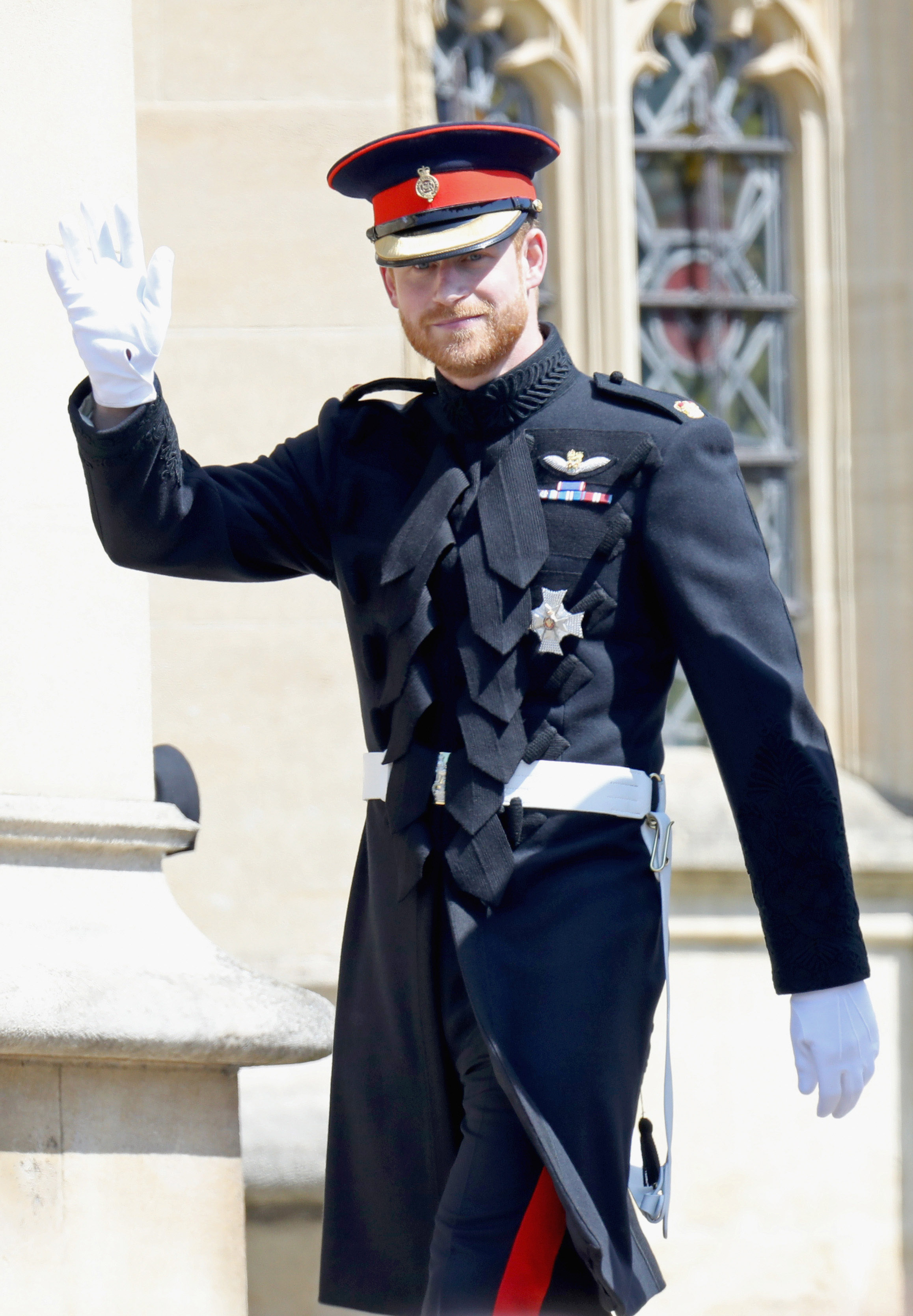 The Duke of Sussex in his wedding outfit