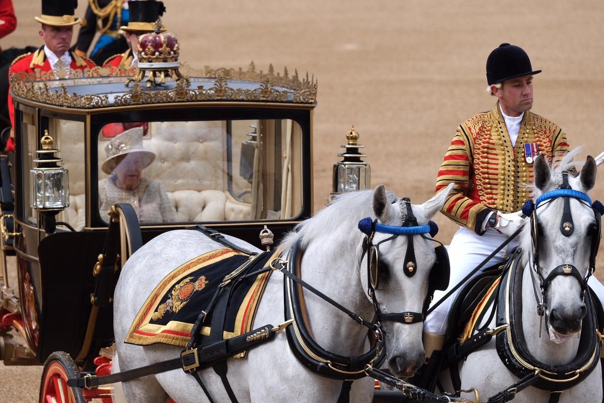 The Queen and Members of The Royal Family attend Trooping