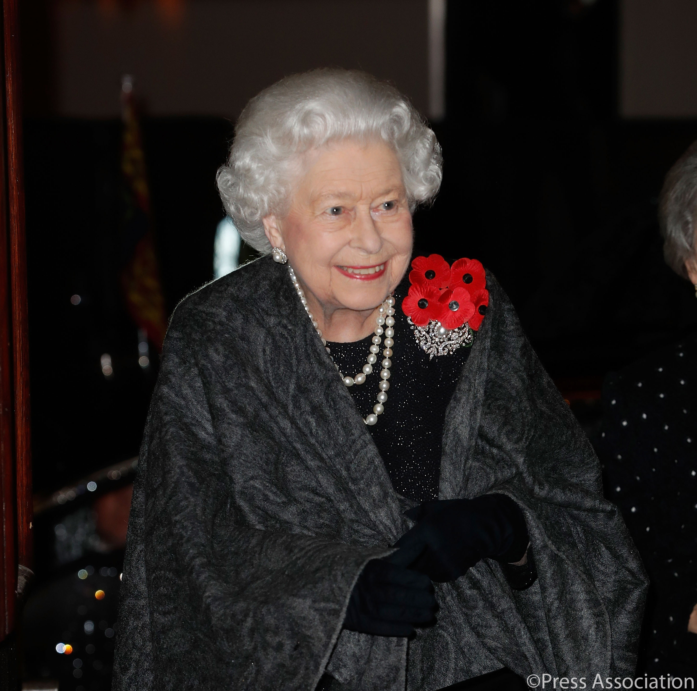 The Queen arrives at the Festival of Remembrance