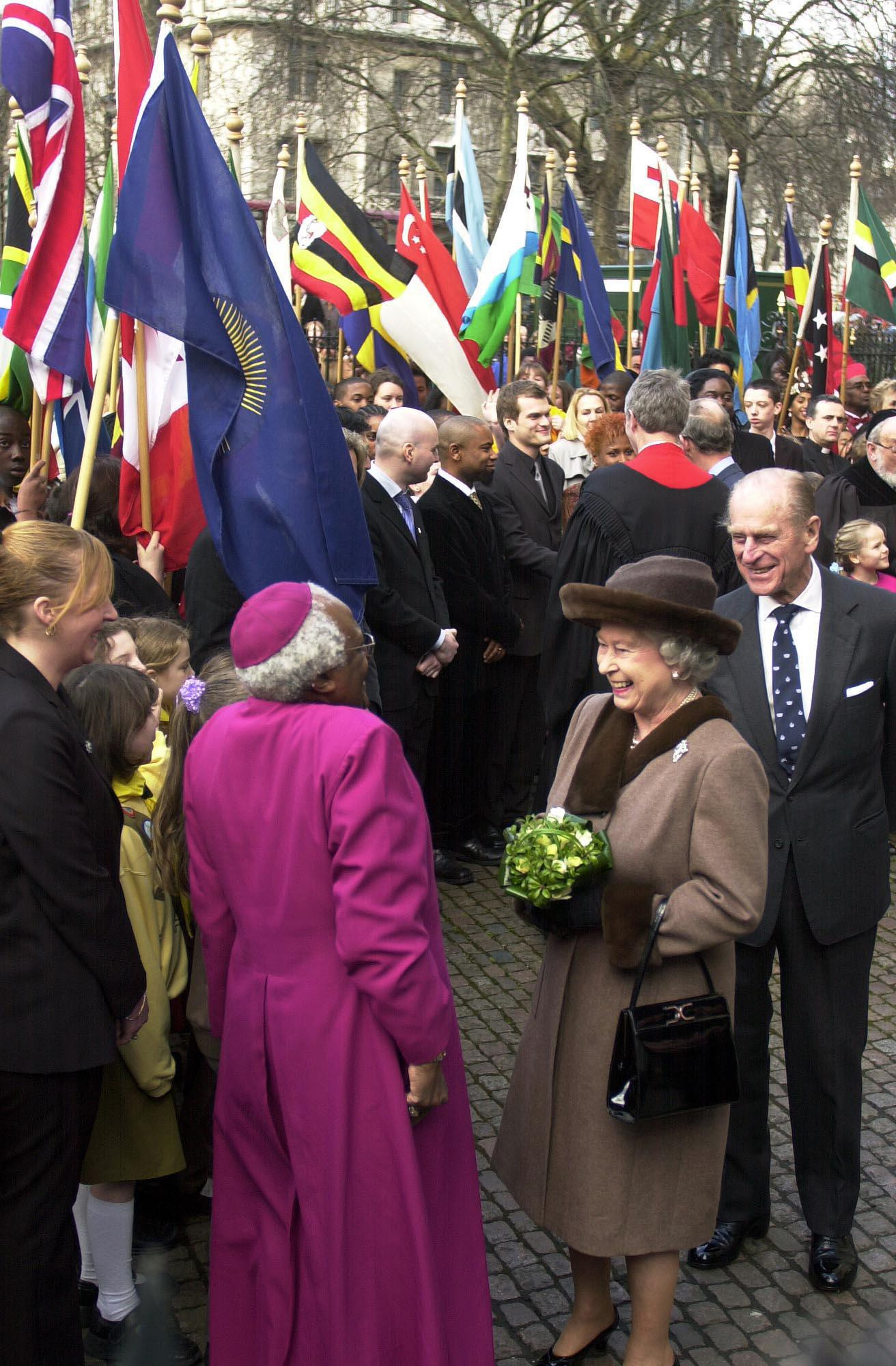 The Queen, Duke of Edinburgh and Archbishop Tutu