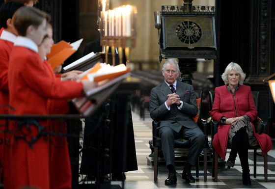 The Prince and The Duchess at King's College Chapel