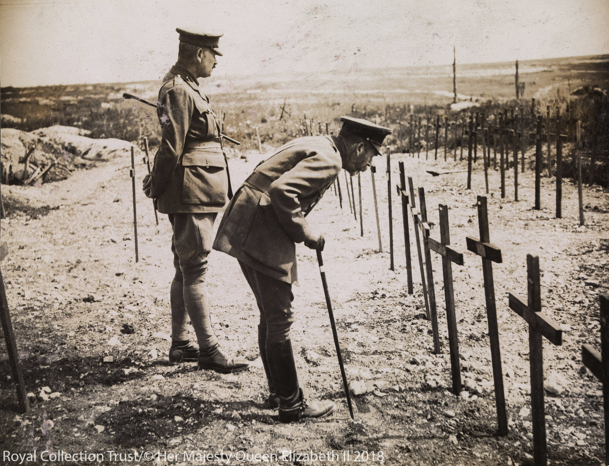 George V visiting the Western Front