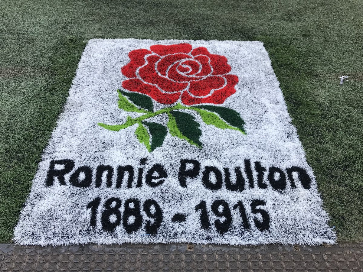 Memorial to Ronnie Poulton