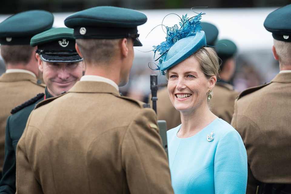 Countess of Wessex visits Paderborn, Germany. Picture: Dominc King, Army Press Office
