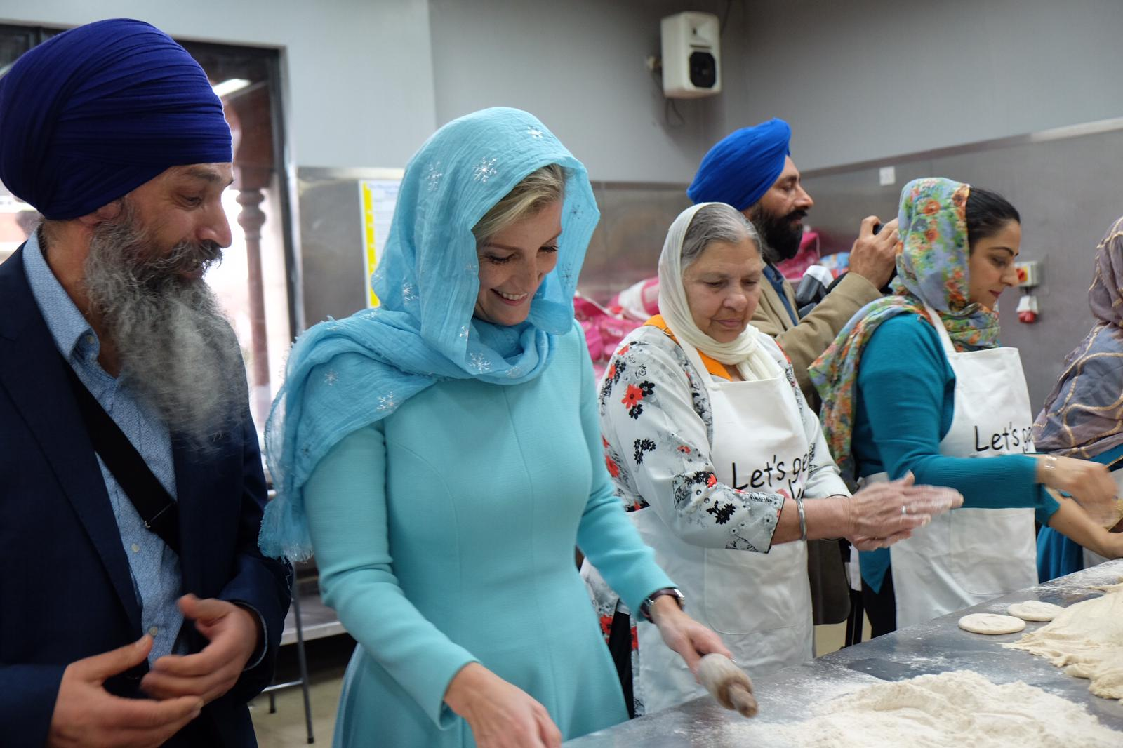 The Countess of Wessex visits a Sikh temple
