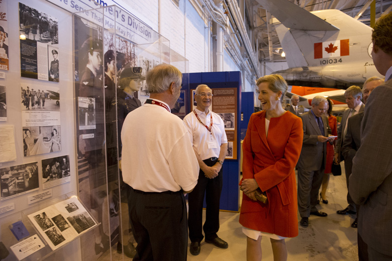 The Earl and Countess of Wessex visited the Royal Aviation Museum of Western Canada, Winnipeg