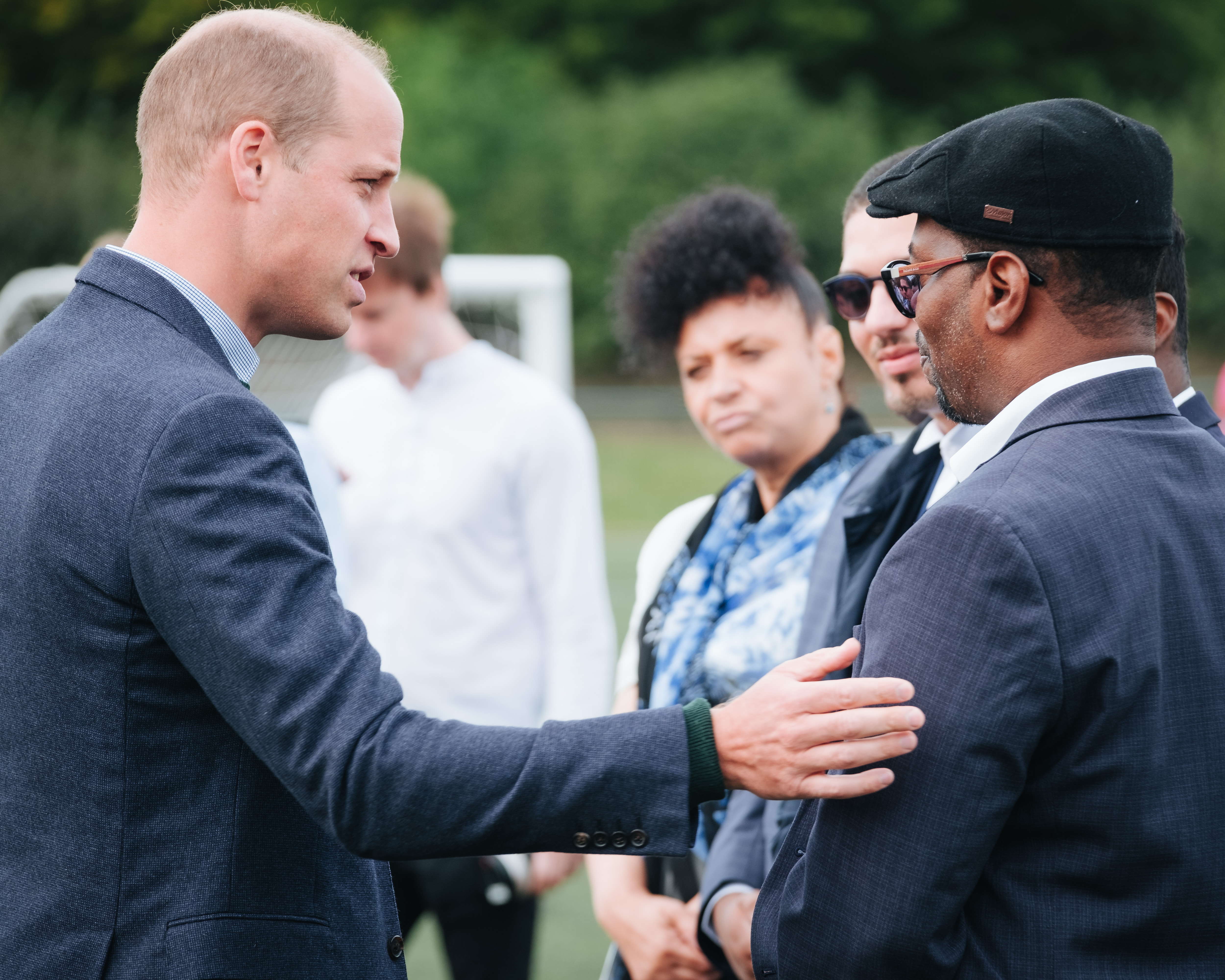 The Duke of Cambridge, FA President, visits Hendon FC as part of the Heads Up campaign.