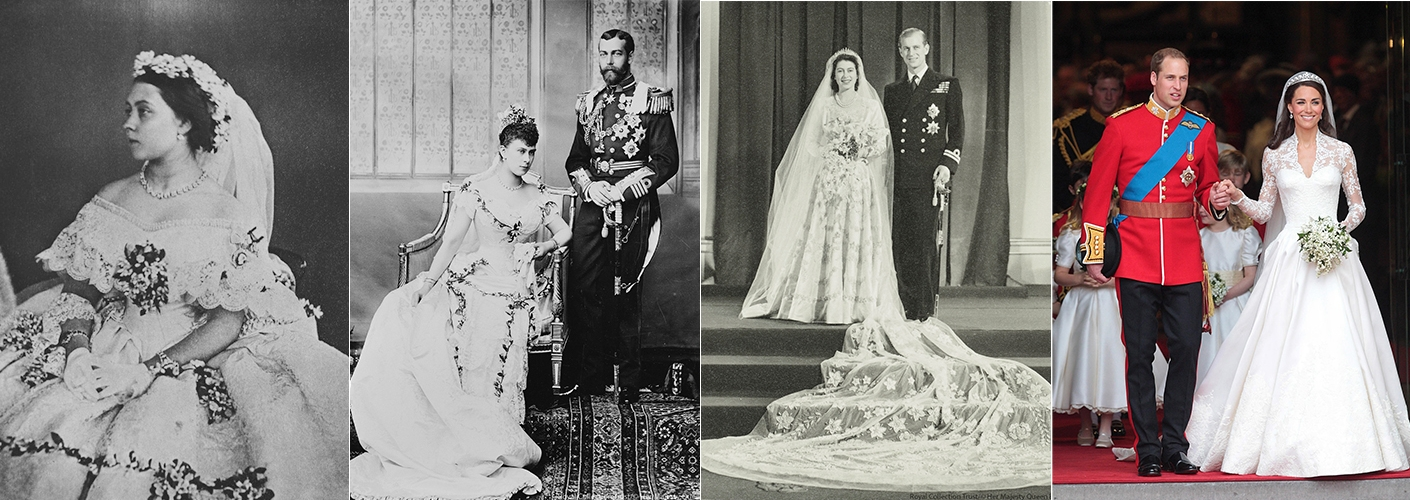 Royal wedding dresses throughout history the royal family junglespirit Images