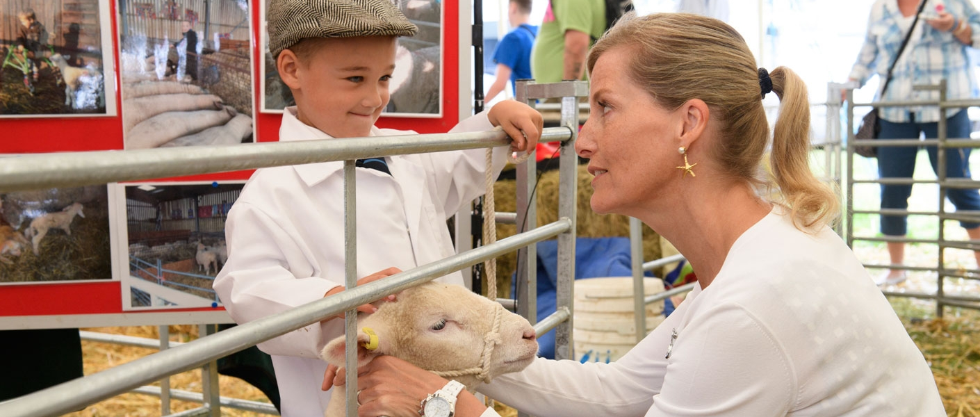 The Countess of Wessex, President of the New Forest and Hampshire County Show, visits the 2016 Show...