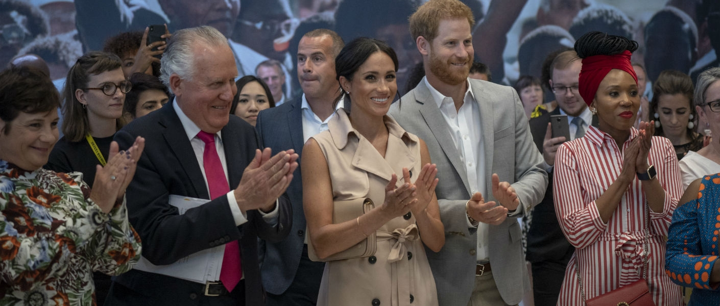 The Duke and Duchess of Sussex at the Nelson Mandela Centenary Exhibition