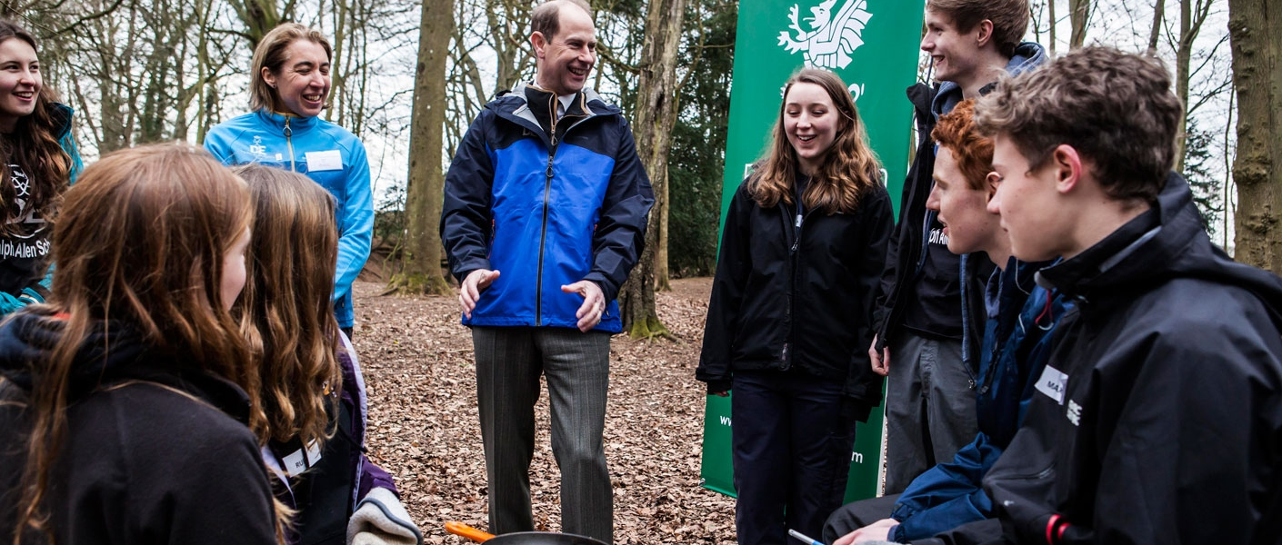 Prior Park College Duke of Edinburgh Award students welcomed The Earl of Wessex to the College