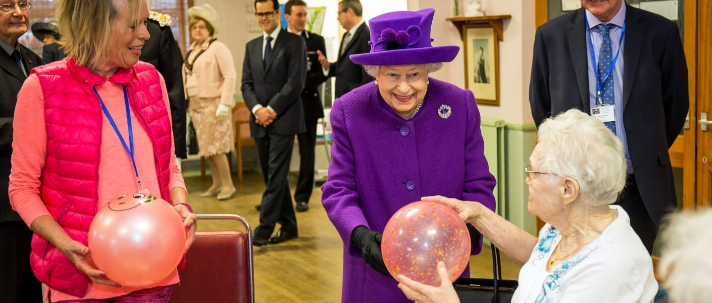 Her Majesty The Queen at George VI Day Centre