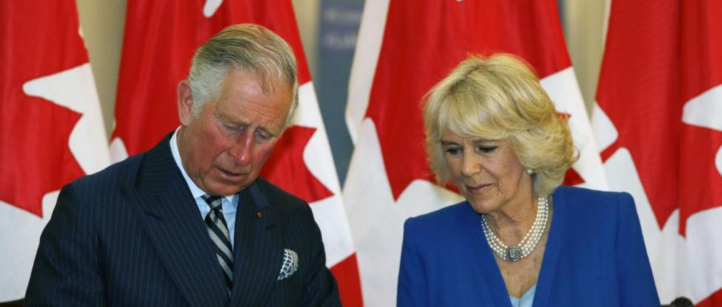 The Prince of Wales and The Duchess of Cornwall tour Canada House