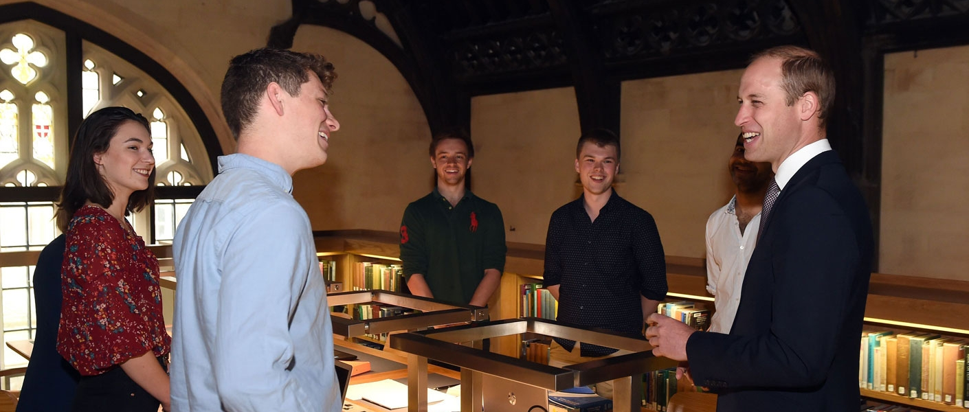 The Duke of Cambridge visits the University of Oxford