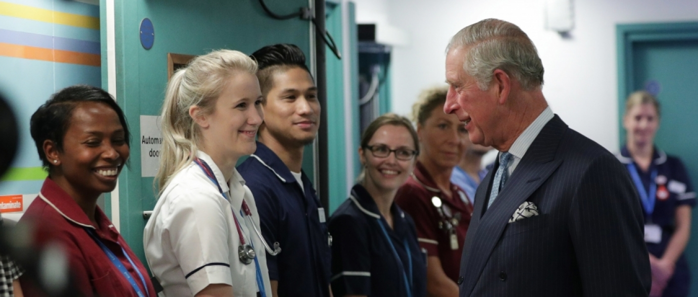 The Prince of Wales with NHS workers