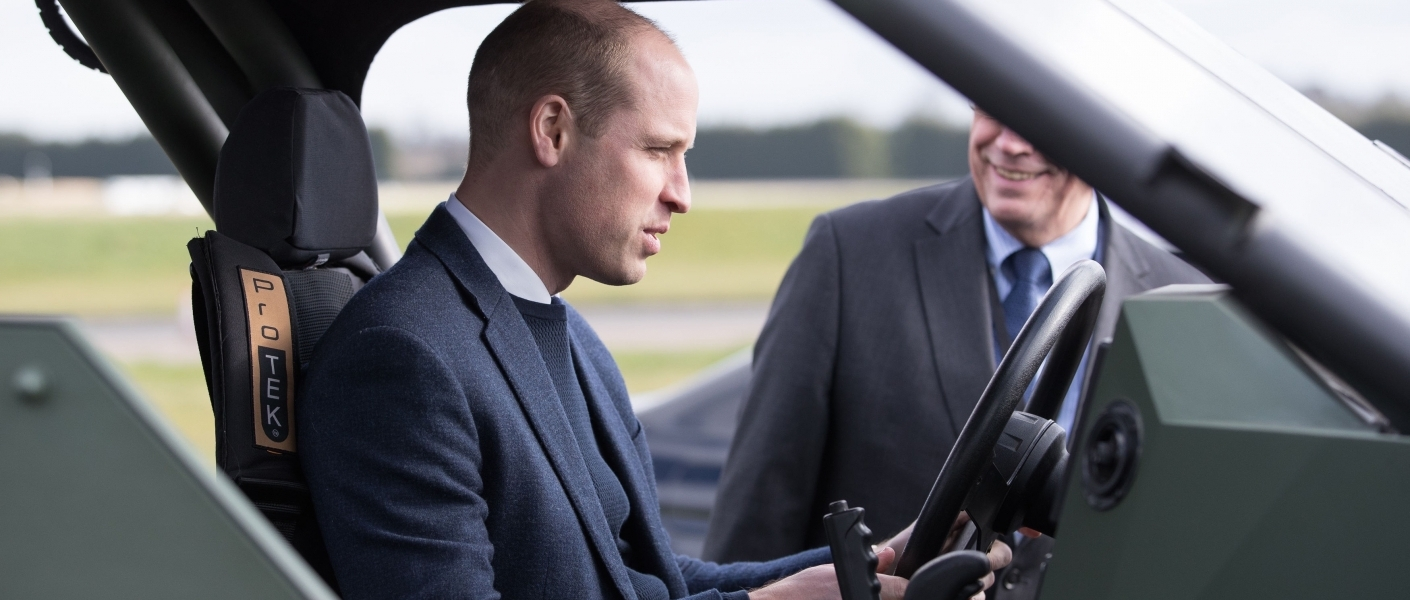 The Duke of Cambridge visits some of the world-class British vehicle manufacture sites i