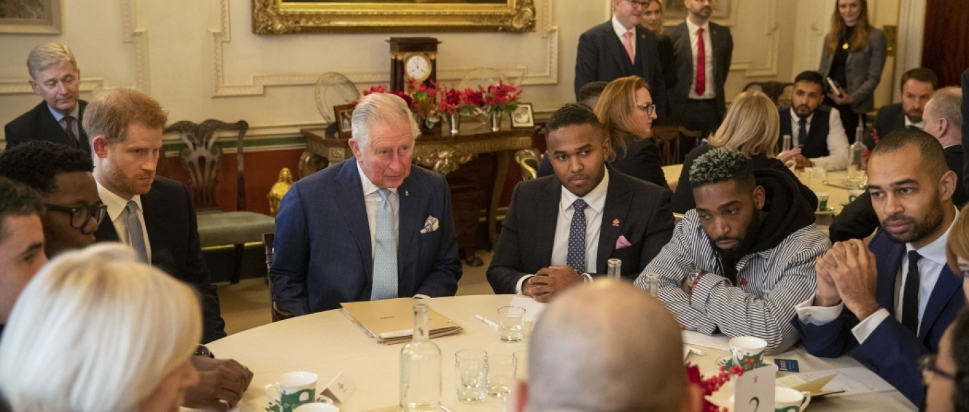 The Prince of Wales and The Duke of Sussex attend an event to discuss youth violent crime
