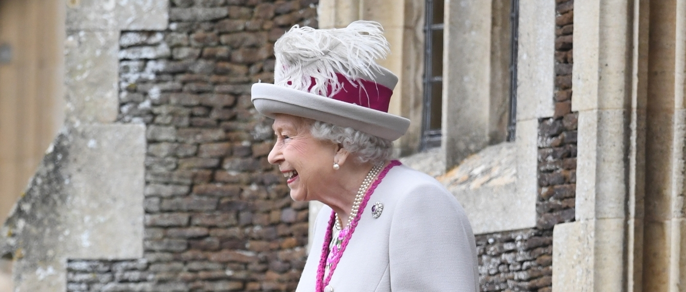 The Queen at Sandringham Church