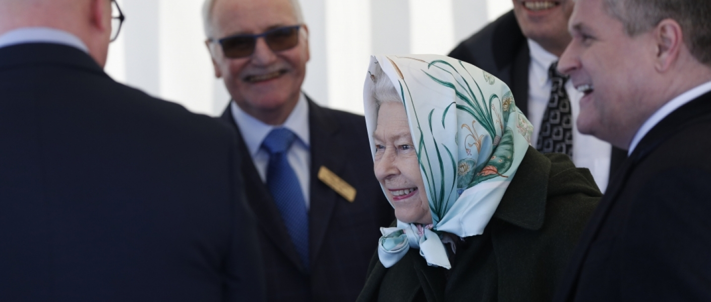 The Queen visits Wolferton Pumping Station