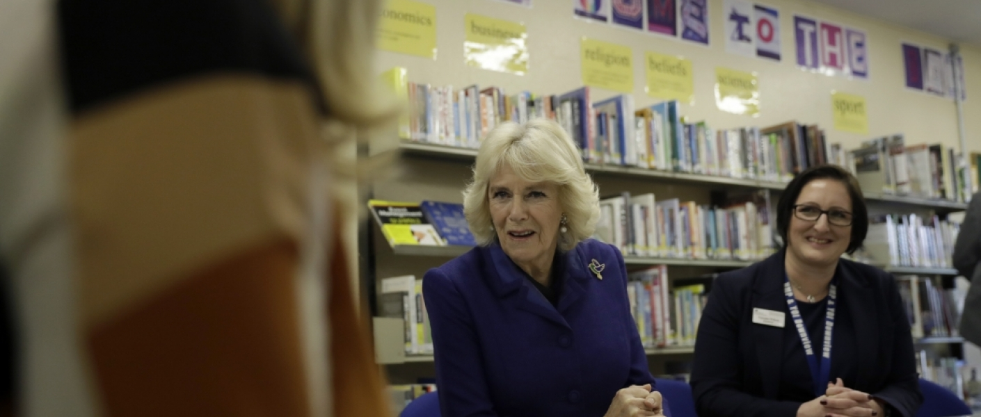 The Duchess of Cornwall meets inmates at HMP Downview
