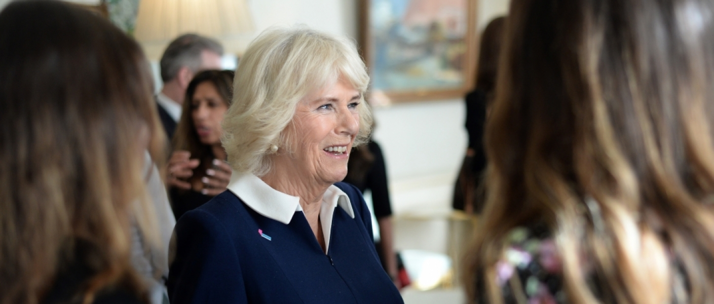 The Duchess of Cornwall at an event with domestic abuse charity SafeLives.