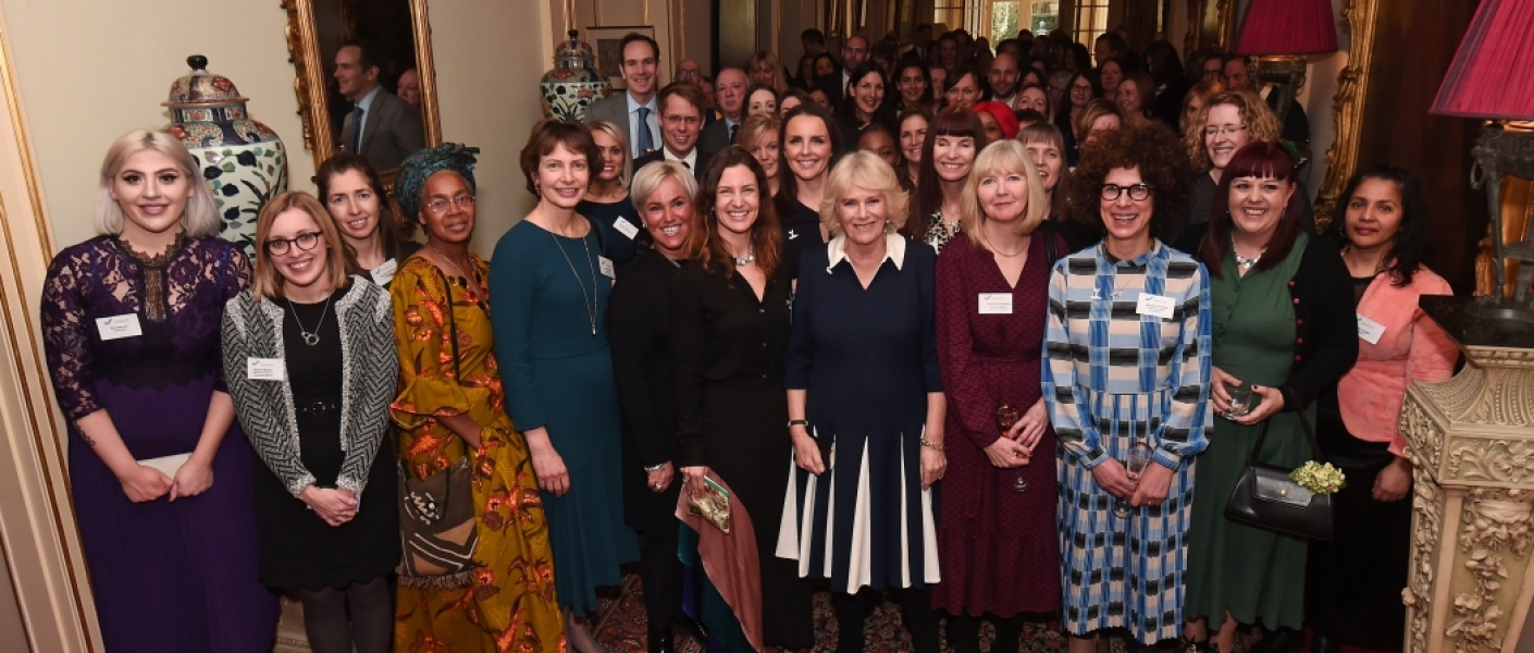 The Duchess of Cornwall with domestic abuse survivors and charity workers