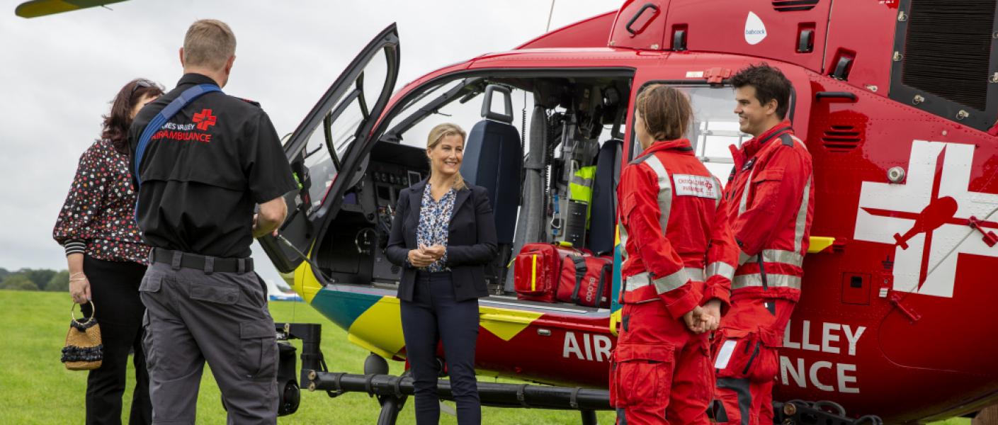 The Countess of Wessex visits Thames Valley Air Ambulance