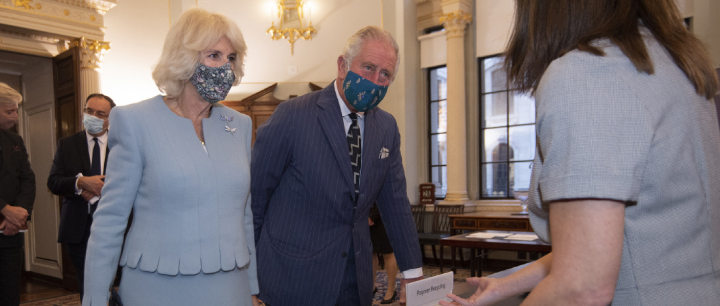 The Prince of Wales and The Duchess of Cornwall visit the Bank of England