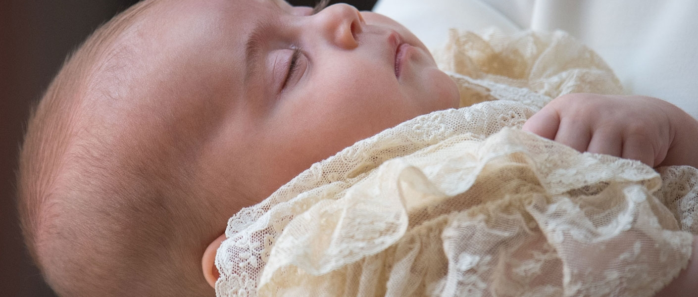 Prince Louis asleep in The Duchess of Cambridge's arms