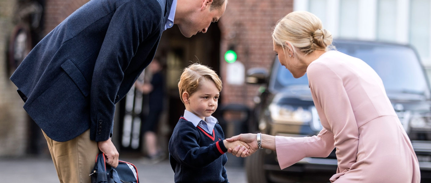 Prince George's first day at school