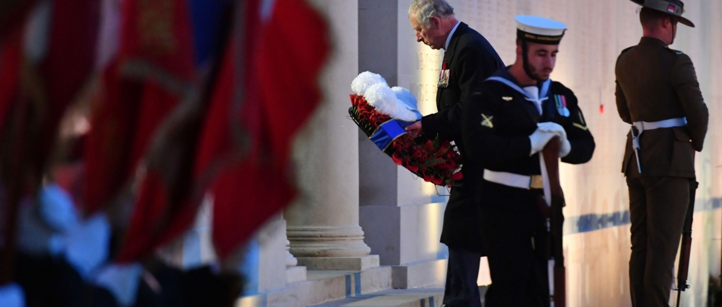The Prince of Wales represents The Queen on Anzac Day 2018