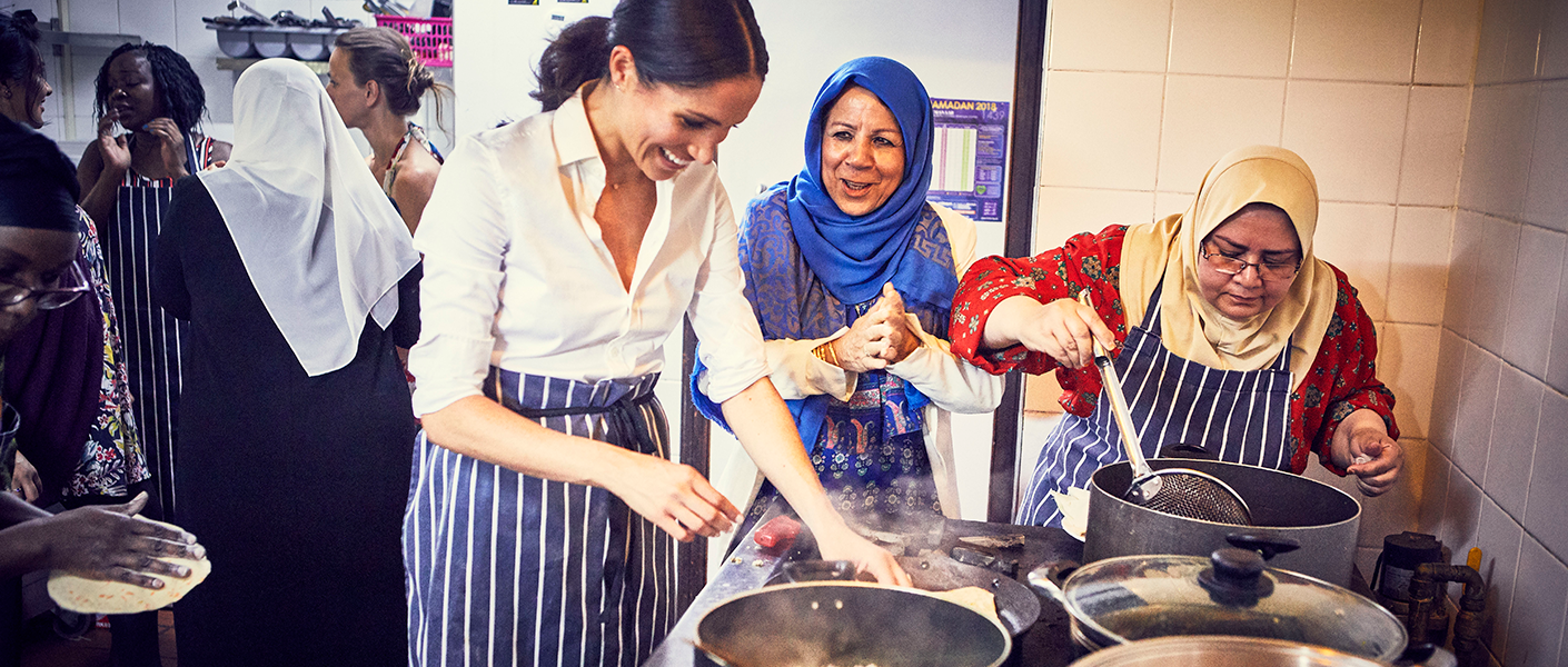 The Duchess of Sussex and the women of the Hubb Community Kitchen