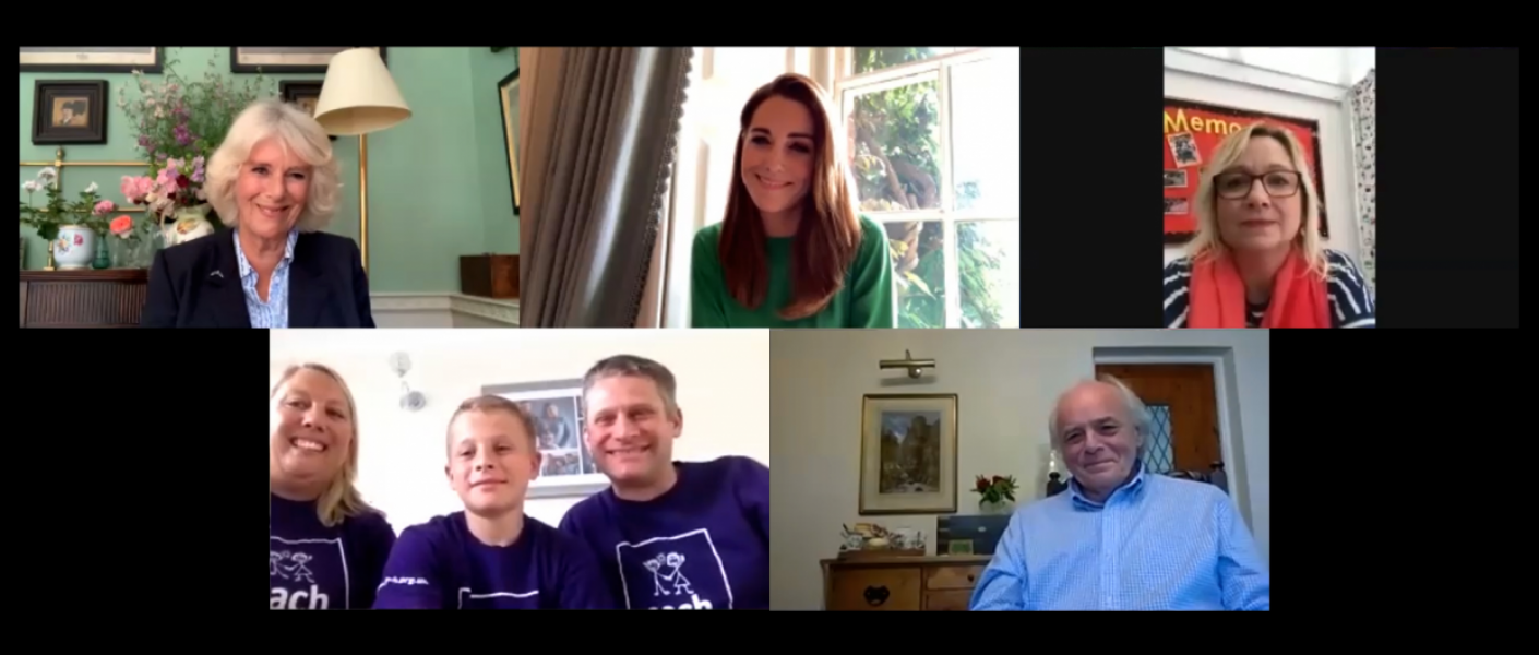 Screenshot of Children's Hospice Week video call